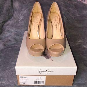 Jessica Simpson Peep toe Nude heels